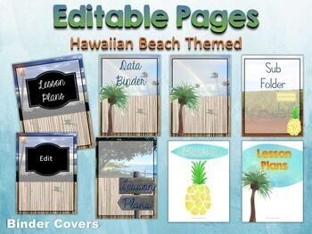 Classroom Decor Bundles Editable   Tropical