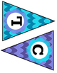 Hawaiian Blue Chevron Classroom Bunting Decor