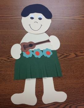 Hawaiian Boy and Girl Craft
