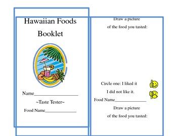 Hawaiian Foods -Taste Tester Booklet