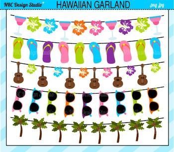 Hawaiian Garland Buntings Clip Art
