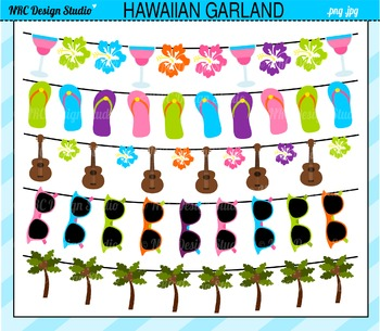 Hawaiian banners clipart commercial use