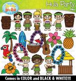 Hawaiian Hula Party Clipart Set {Zip-A-Dee-Doo-Dah Designs}