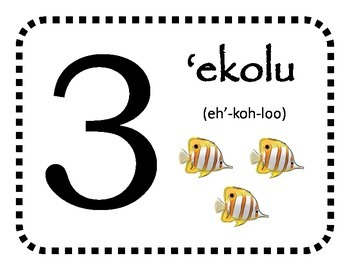 Hawaiian Language: Numbers 0-10