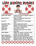 Hawaiian-Luau-Beach Theme Classroom Jobs (Lifesaving Duties)