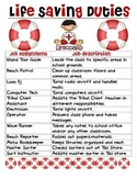 Hawaiian-Luau-Beach Theme Classroom Jobs (Lifesaving Duties)