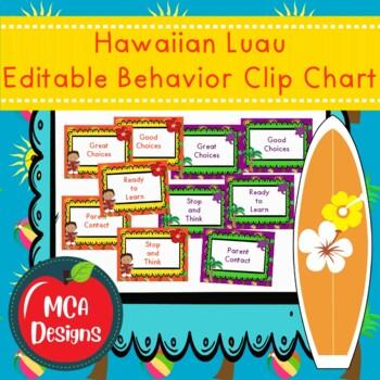 Hawaiian Luau - Behavior Clip Chart