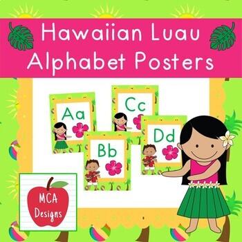 Hawaiian Luau Classroom Decor Bundle