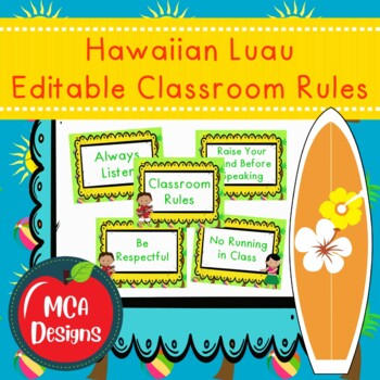 Hawaiian Luau - Classroom Rules