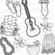 Hawaiian Luau Clip Art (Digital Use Ok!)