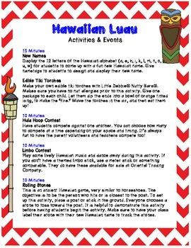 Hawaiian Luau: End of Year Celebration