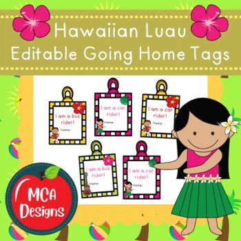 Hawaiian Luau - Going Home Tags