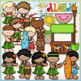 Hawaiian Luau - CU Clip Art & B&W Set