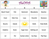 Hawaiian Luau Theme Bingo Game- Printable 60 Unique Cards