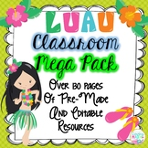 Hawaiian Luau Tropical Theme Classroom Decor -EDITABLE