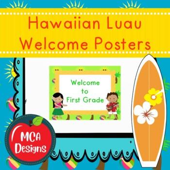 Hawaiian Luau - Welcome Posters