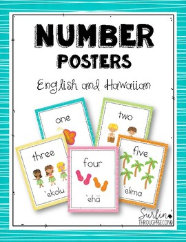 Hawaiian Numbers Posters 1-10  Freebie