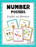 Hawaiian Numbers Posters 1-10  Freebie