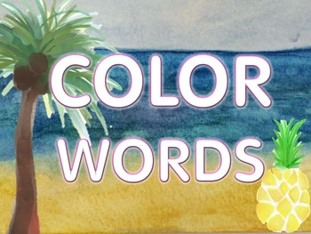 Tropical Classroom Decor Color Word Posters