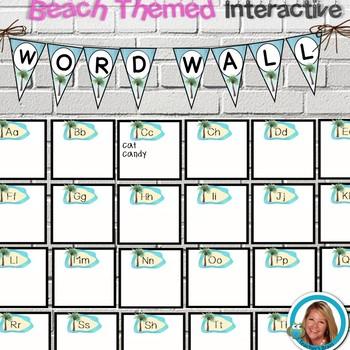 Hawaiian Ocean Theme Word Wall, Banner, Journal