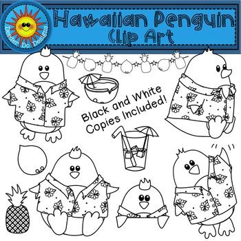 Hawaiian Penguin Clip Art