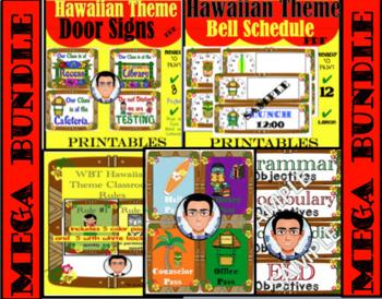 Hawaiian Theme Classroom Decore MEGA BUNDLE