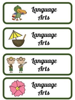 Hawaiian Theme Classroom Set