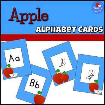 Apple Themed Alphabet Cards