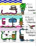Hawaiian Themed Job Chart