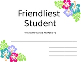 Hawaiian Themed Student Awards (Editable)