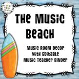 Hawaiian Beach Music Room Decor Bundle