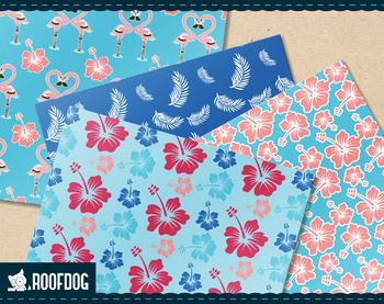 Hawaiian shirt digital paper