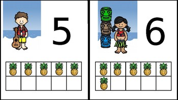 Hawiian Numbers Posters