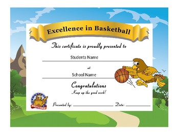 Hawk Award Certificates -Standard