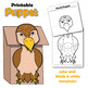 Hawk Craft Activity | Paper Bag Puppet Template