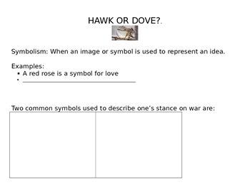 Hawk or Dove Graphic Organizer: Sunrise Over Fallujah