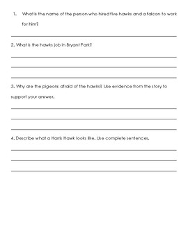 Hawks on the Clock Comprehension Packet