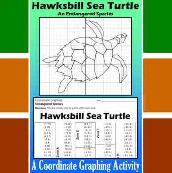 Hawksbill Sea Turtle - A Coordinate Graphing Activity