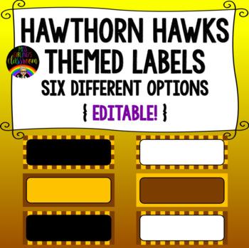 Hawthorn Hawks Themed Labels {Editable!}