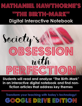 Hawthorne's The Birthmark: Digital Interactive Notebook (Google)