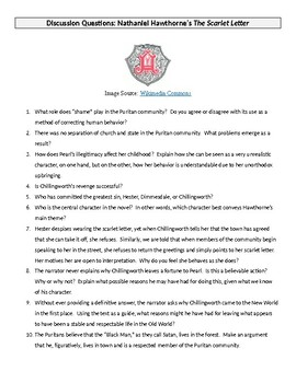 Hawthorne's The Scarlet Letter – 10 Questions for Discussion (or Assessment)