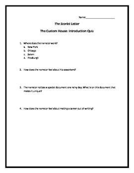 Hawthorne's The Scarlet Letter Unit
