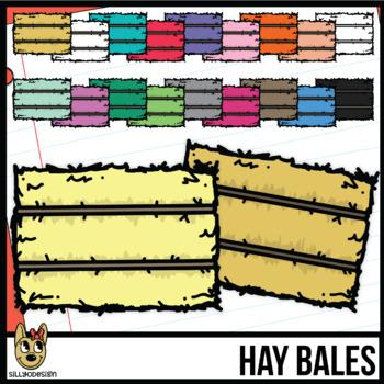 Hay Bale Colors Clip Art
