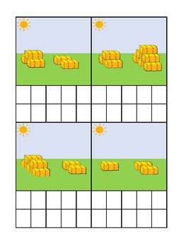 Hay Bale Counting Ten Frame Activity