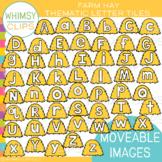 Hay Letter Tiles Clip Art {MOVEABLE IMAGES}