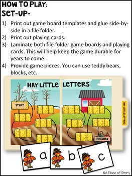 Hay Little Letters (An Alphabet Recognition File Folder Game)