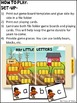 Hay Little Letters (An Alphabet Recognition File Folder Game)