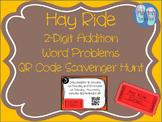 Hay Ride 2-Digit Addition Word Problems QR Scoot Scavenger Hunt