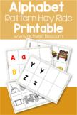 Hay Ride Alphabet Pattern