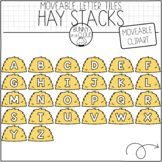 Hay Stack Letter Tiles (Moveable Clipart) by Bunny On A Cloud